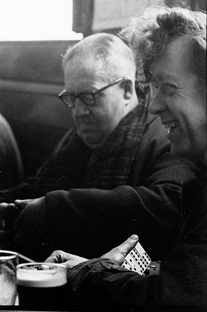 Photograph of people playing dominoes in Hull pubs 1970's.
